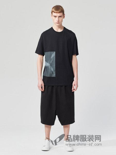 ZUEE�g男装2018春夏男士短袖t恤体恤 宽松休闲打底衫潮