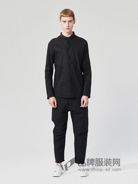 ZUEE�g男装2018春夏长袖休闲衬衫薄款宽松上衣衬衣