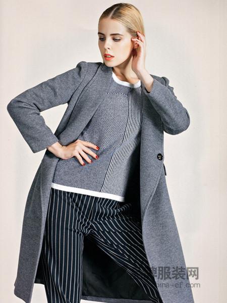 必芙丽女装冬季毛呢外套