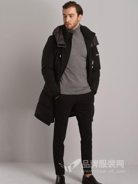 恩咖男装2018秋冬潮流棉衣 修身短款棉袄保暖外套棉服