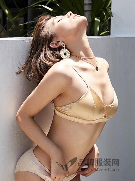 贝女梦内衣2018春夏薄款透气少女蝴蝶结聚拢内衣睡眠胸罩
