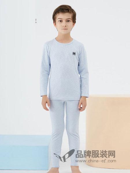 久岁伴内衣2018秋冬睡衣紧身保暖家居服儿童内衣套装