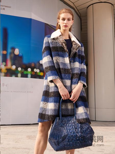 迪奥女装2018秋冬时尚百搭口袋羊毛中长款翻领毛呢大衣外套