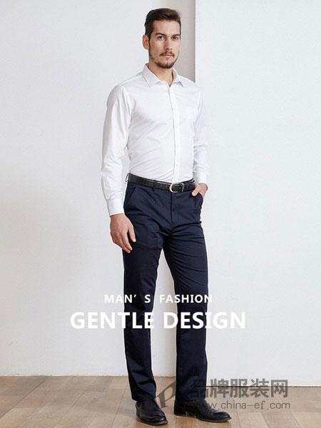 开开男装2018春夏新款男士职业正装短袖衬衫