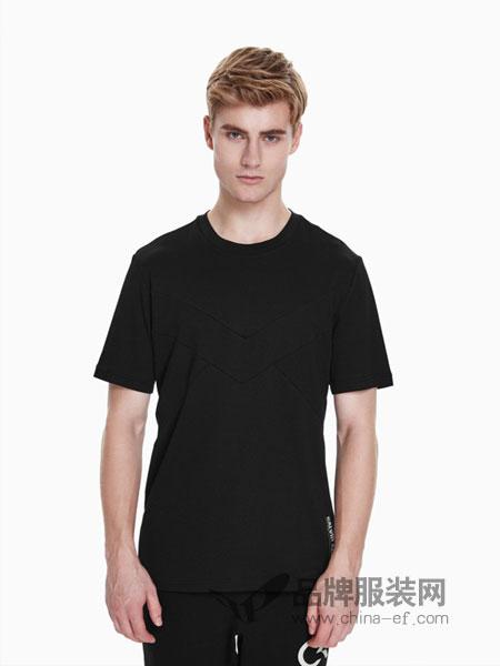 Calvin Klein休闲2018春夏简约经典纯色圆领短袖T恤