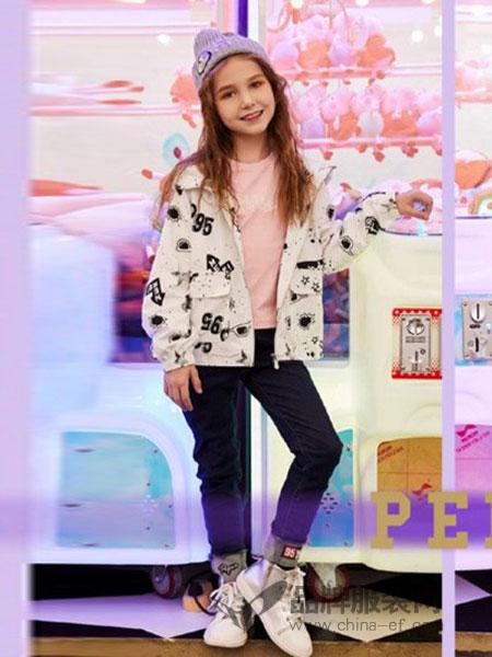 小猪班纳童装2018秋冬新款韩版短款薄款羽绒服印花外套