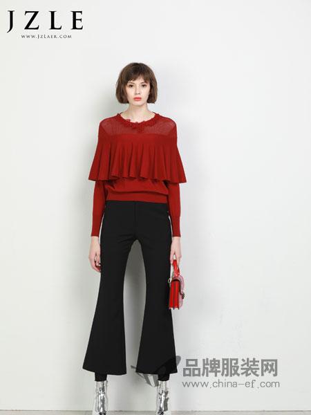 珈姿・莱尔女装2018秋冬新款雪纺衬衫女长袖钉珠时尚打底衫显瘦上衣
