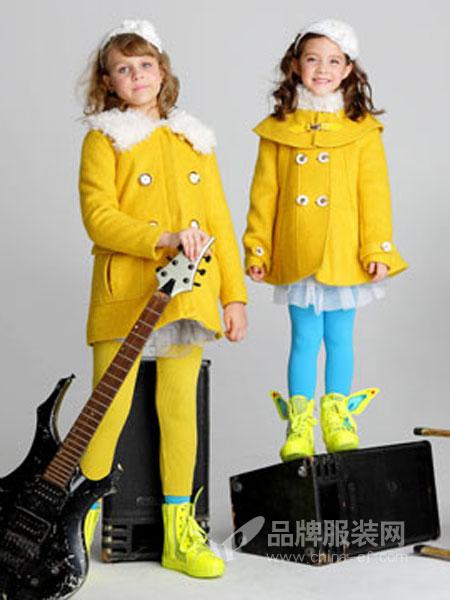 青青果童装韩版婴幼儿童宝宝双排扣连帽棉质外套