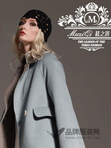 慕之淇女装2018冬季单排扣宽松显瘦中长款双面羊毛羊绒大衣