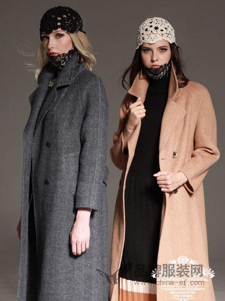 慕之淇女装2018冬季双面羊绒大衣女中长款蒋欣同款羊绒外套