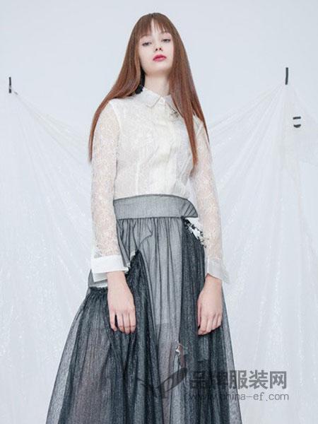 siran女装2018春夏新款 真丝蕾丝花立领长袖衬衣 衬衫