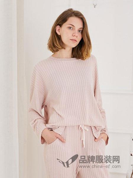 软衣房内衣2018秋冬新品七分袖短裤两件套家居服