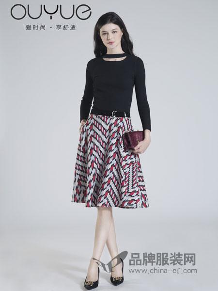 欧�h女装2018秋冬几何图案拼接蕾丝收腰中年女连衣裙