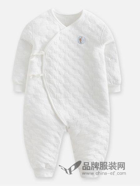 好孩子童装2018秋冬新品婴儿纯棉保暖长袖对襟连身衣柔软透气哈衣