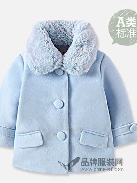 好孩子童装2018秋冬女童呢子大衣 中长款儿童保暖毛呢外套风衣潮
