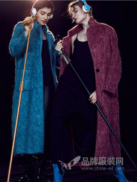 玛娃女装2018秋冬文艺长袖针织衫开衫 复古宽松中长款加厚毛衣外套