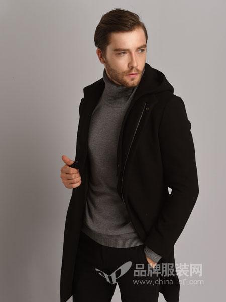 恩咖男装2018秋冬新款羊毛外套商务休闲派克夹克