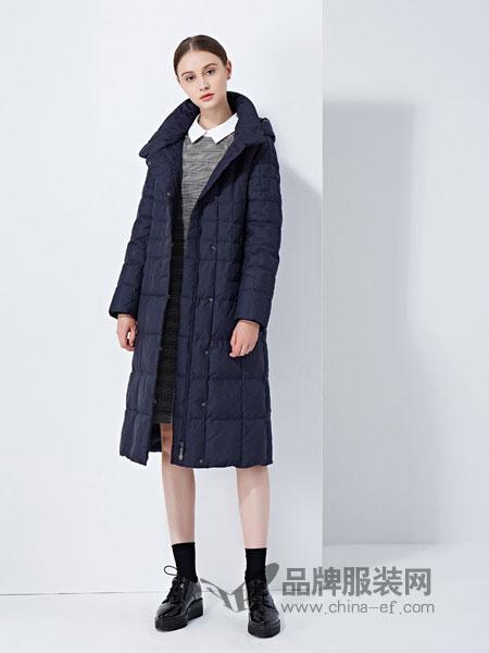 太和女装2018秋冬新款连帽过膝修身两面穿轻薄 羽绒服 女