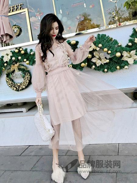诺诗琪女装2018春夏新款韩版中长气质温柔裙潮