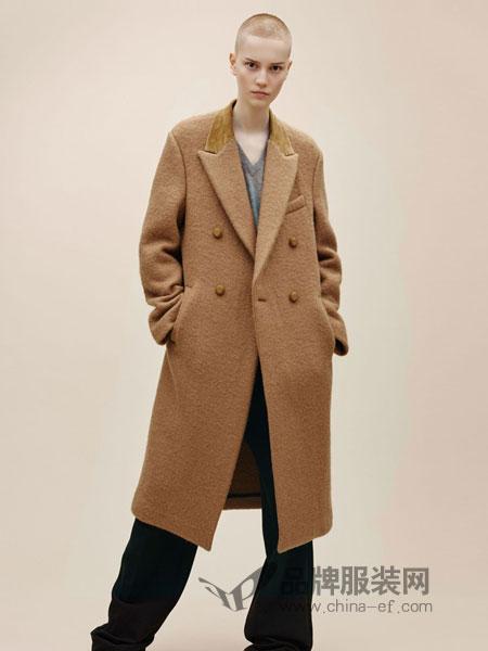 摩登瑞尔女装2018秋冬韩版女装时尚高端双面呢大衣羊绒外套
