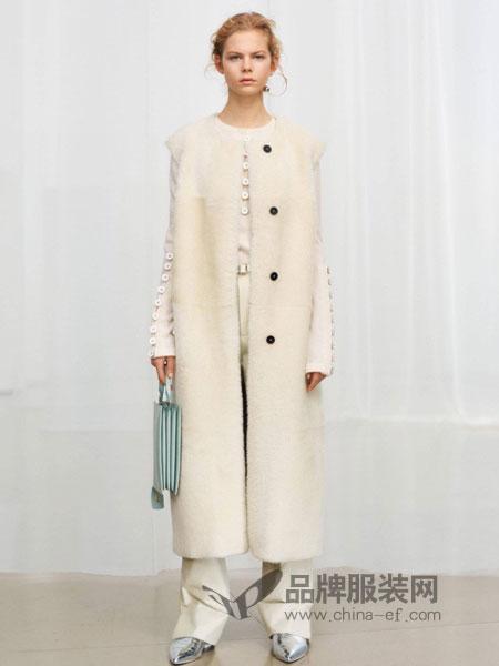 摩登瑞尔女装2018秋冬韩版宽松双面无羊绒羊毛呢子大衣