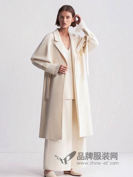 摩登瑞尔女装2018秋冬双面羊绒大衣气质显瘦韩版中长款外套