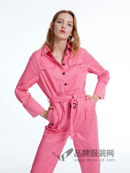 圣可尼女装2018秋冬新款玫粉色衬衫外套+高腰褶皱短裤休闲套装