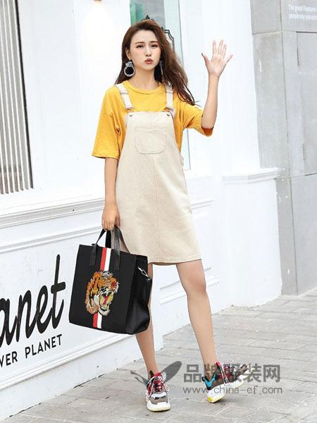 COCOTDZZY女装2018秋冬韩版糖果色连衣裙A字短裙