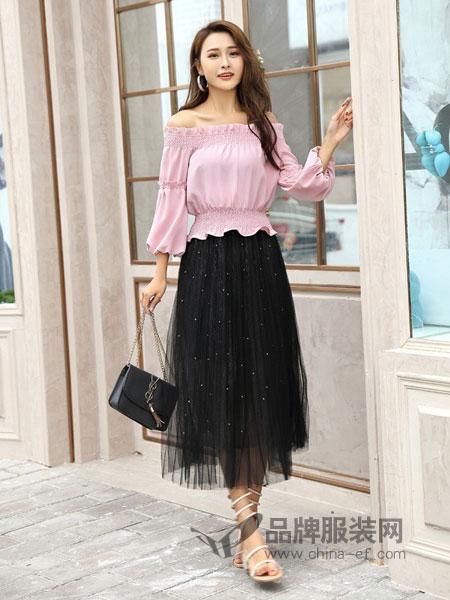 COCOTDZZY女装2018秋冬新款时尚半身长裙网纱裙中长款