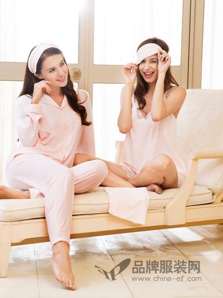 猫人内衣薄款粉色衬衫重磅七分袖真丝睡裙