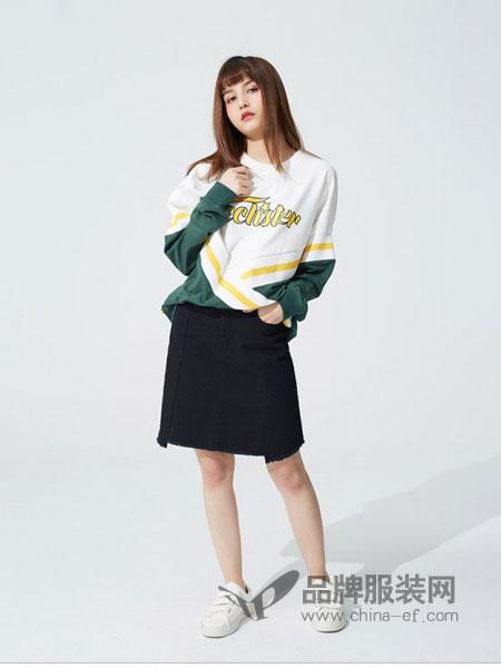 E hyphen world gal女装2018秋冬休闲短款外套夹克