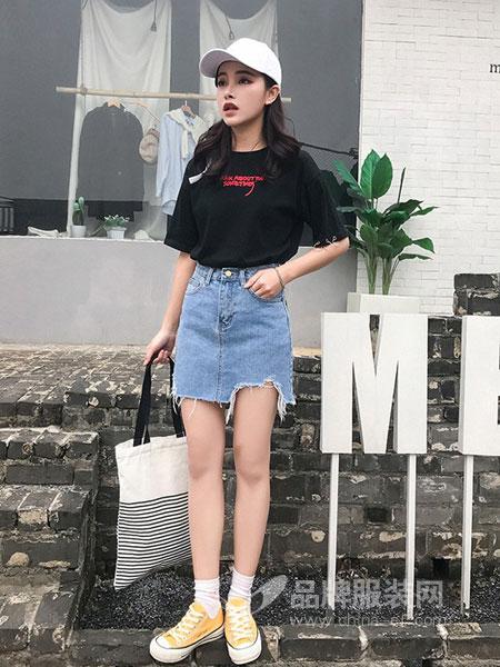 爱裤者女装2018秋冬高腰牛仔修身显瘦紧身热裤超短裤