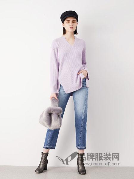 FRAY I.D女装2018秋冬新款韩版慵懒风糖果色毛衣女宽松V领外套