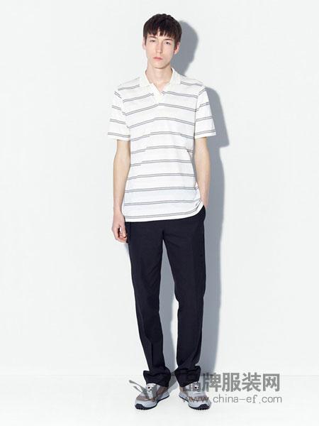 登喜路男装2018春夏翻领短袖T恤 男式长绒棉短袖T恤大码