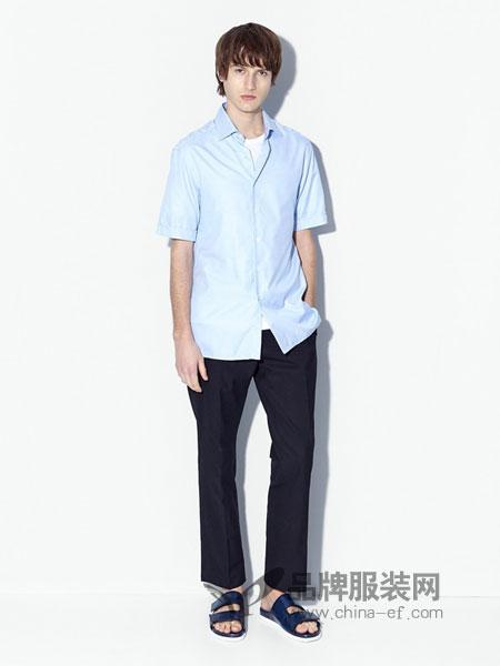 登喜路男装2018春夏短袖衬衫男士薄款衬衣免烫半袖寸衫上衣