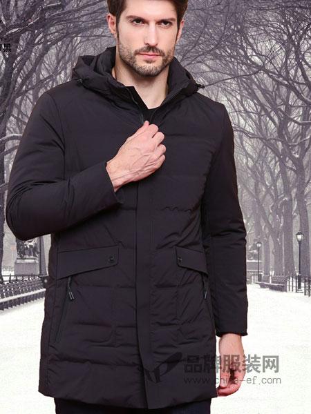 皇卡男装2018秋冬连帽短款加厚时尚休闲羽绒服男保暖修身男外套