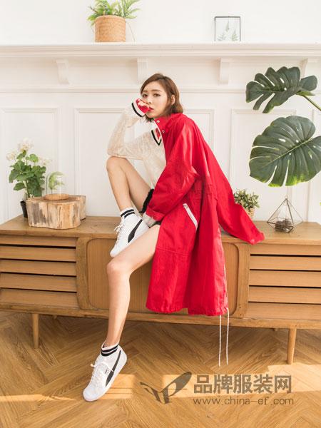 伽戈女装2018秋冬刺绣短外套七分袖薄外套夹克衫