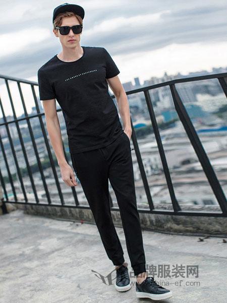 V.SHOLIDAY男装2018春夏半截袖体恤韩版男潮流修身