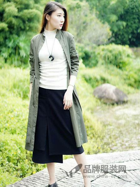 底色女装2018秋季薄款风衣外套女长袖中长款2018春季新款韩版气质休闲女装立领上衣
