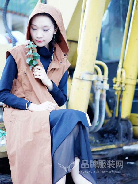 底色女装2018秋季系带风衣女中长款纯色马甲外套