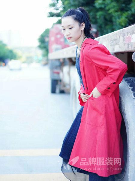 底色女装2018秋季新款长袖中长款风衣纯色宽松韩版薄款