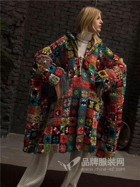 米索尼Missoni女装2018秋冬修身丝绒长袖T恤半高领印花打底衫多色