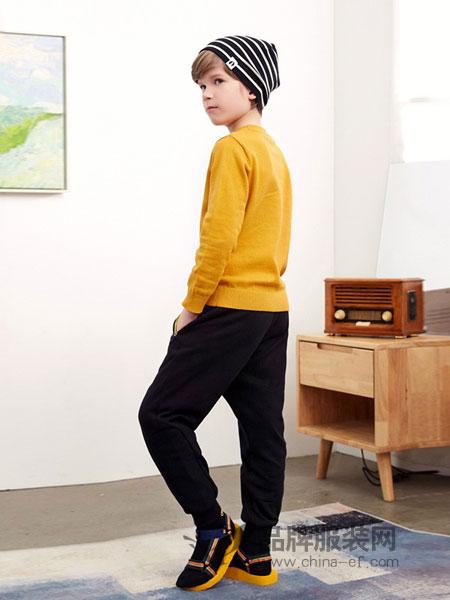 梦多多童装2018秋冬韩版口袋织带运动裤裤潮新品