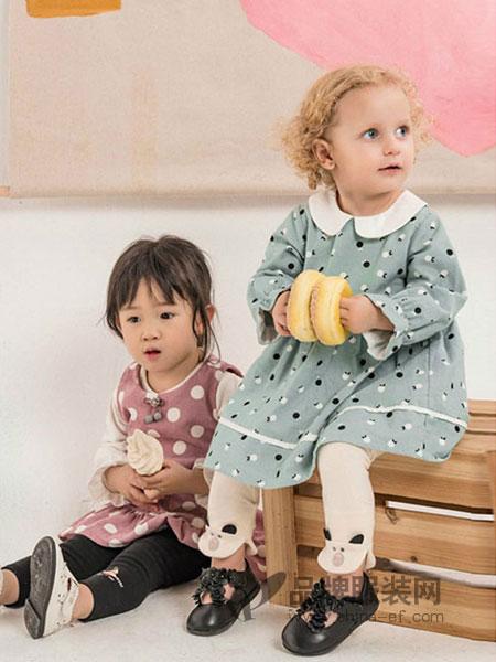 塔哒儿童装2018秋冬新款婴儿裙子女童两件套