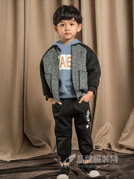 塔哒儿童装2018秋冬时尚拉链外套中大儿童加厚时尚休闲外套