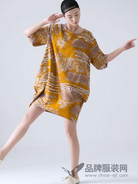 巴古利女装慵懒风成熟连衣裙