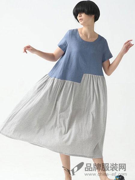 巴古利女装棉麻森系连衣裙