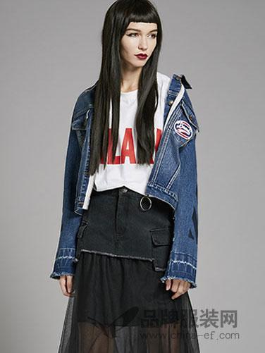 Z11女装2018 短款时尚牛仔外套