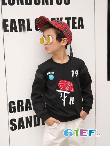 N.C.B/九洲娃童装2018秋冬男童潮装嘻哈卫衣小孩上衣