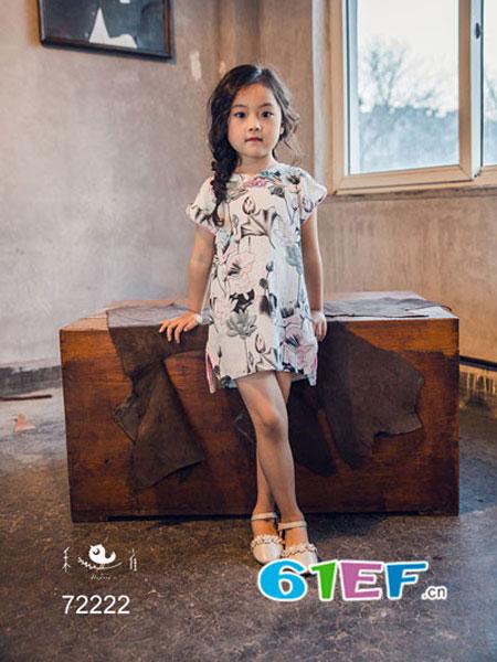 安蒂宝贝童装儿童短袖连衣裙 旗袍女童裙